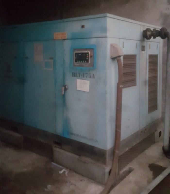 国产空压机在上海某造船厂节能改造成功